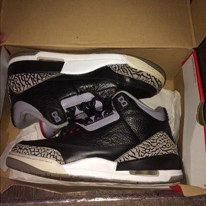 "Jordan 3 ""Black Cement"" Size 9"